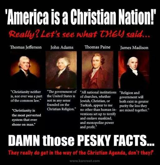 founding fathers christian nation