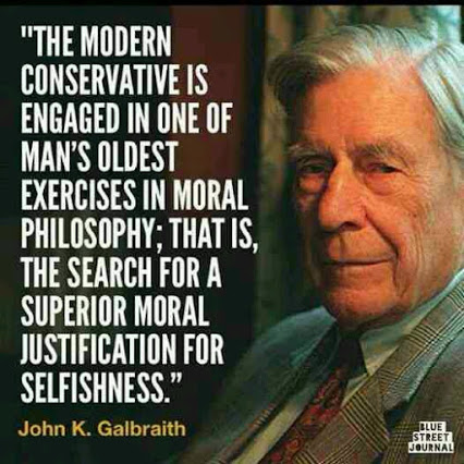 conservative justify selfishness