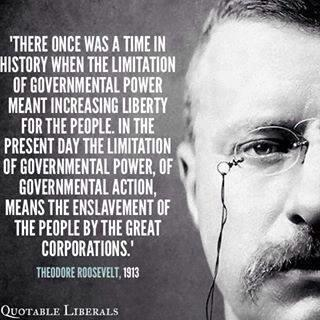 Theodore Roosevelt 1913 Liberal Quote